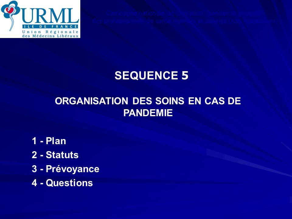 ORGANISATION DES SOINS EN CAS DE PANDEMIE