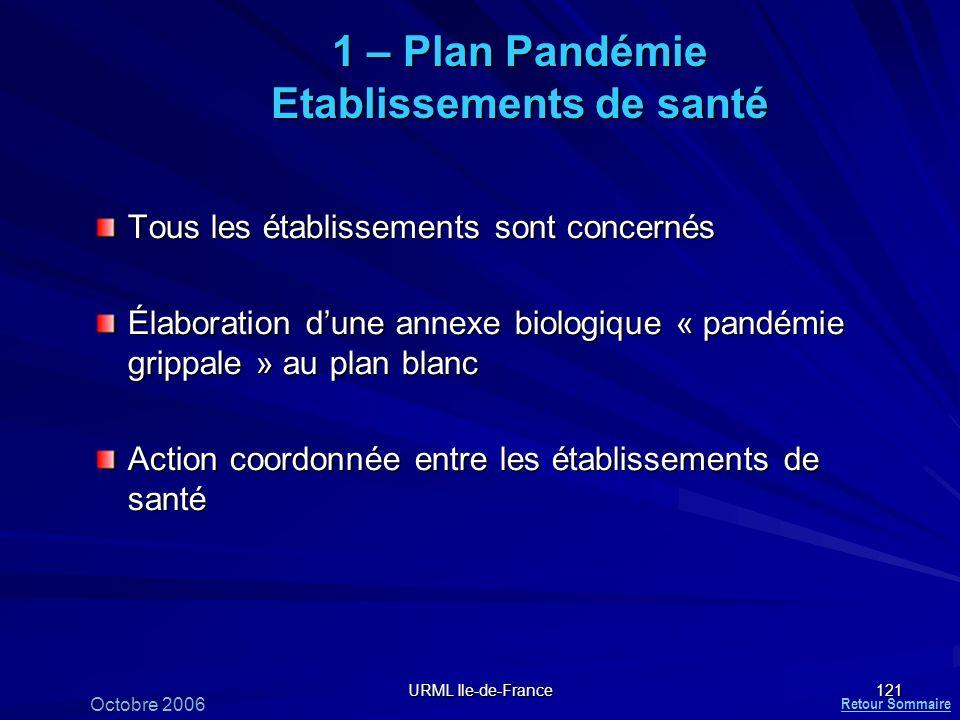 1 – Plan Pandémie Etablissements de santé