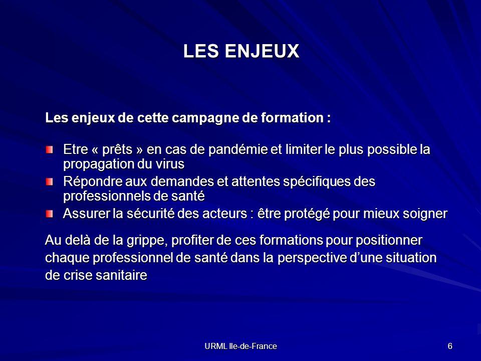 LES ENJEUX Les enjeux de cette campagne de formation :