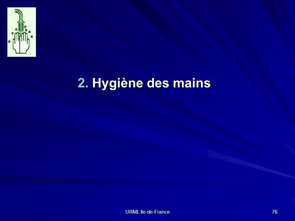 2. Hygiène des mains URML Ile-de-France