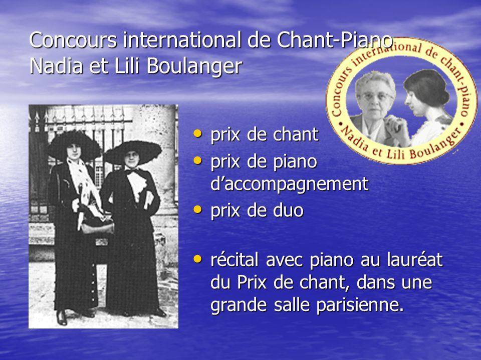 Concours international de Chant-Piano Nadia et Lili Boulanger