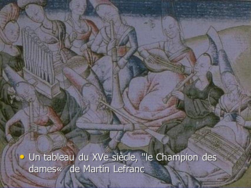Un tableau du XVe siècle, le Champion des dames« de Martin Lefranc