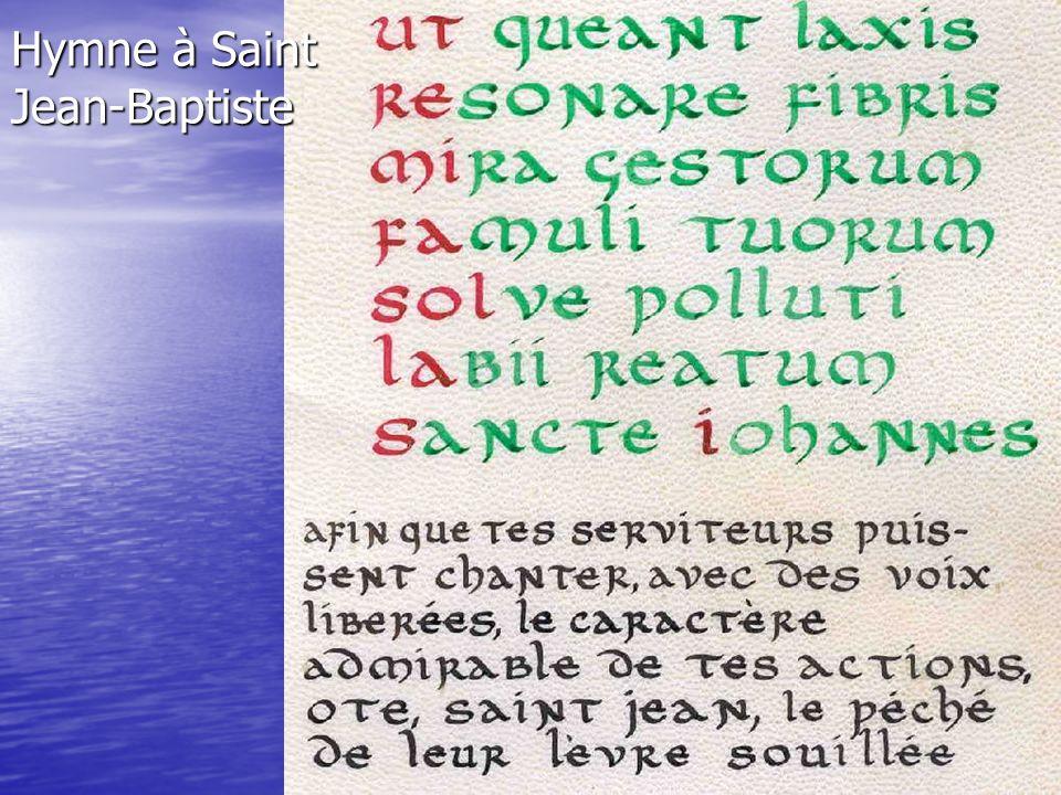 Hymne à Saint Jean-Baptiste