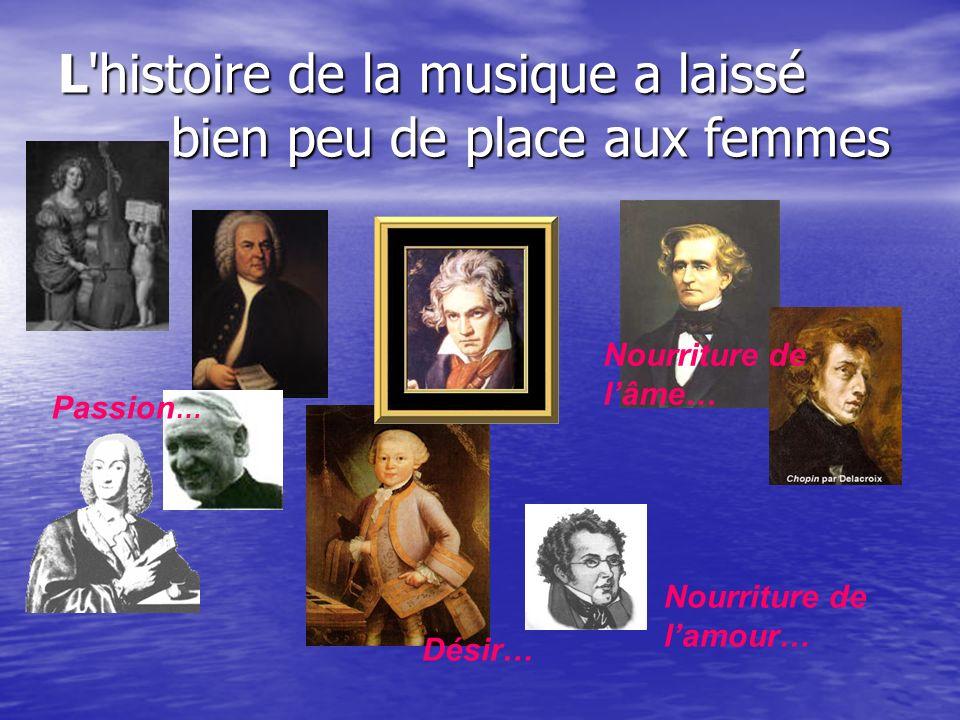L histoire de la musique a laissé bien peu de place aux femmes