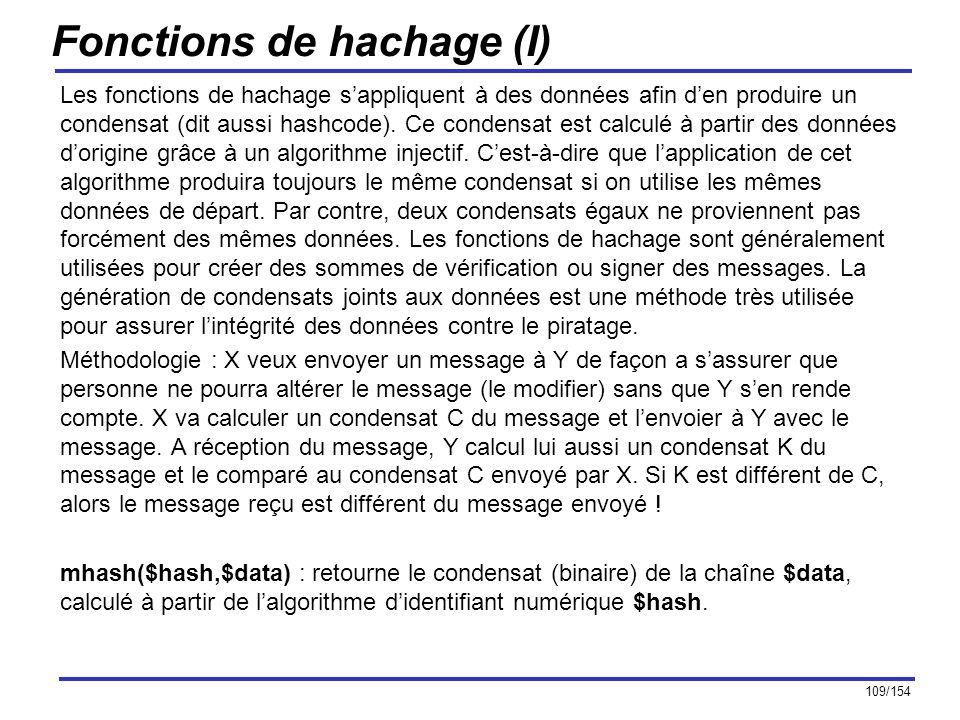 Fonctions de hachage (I)