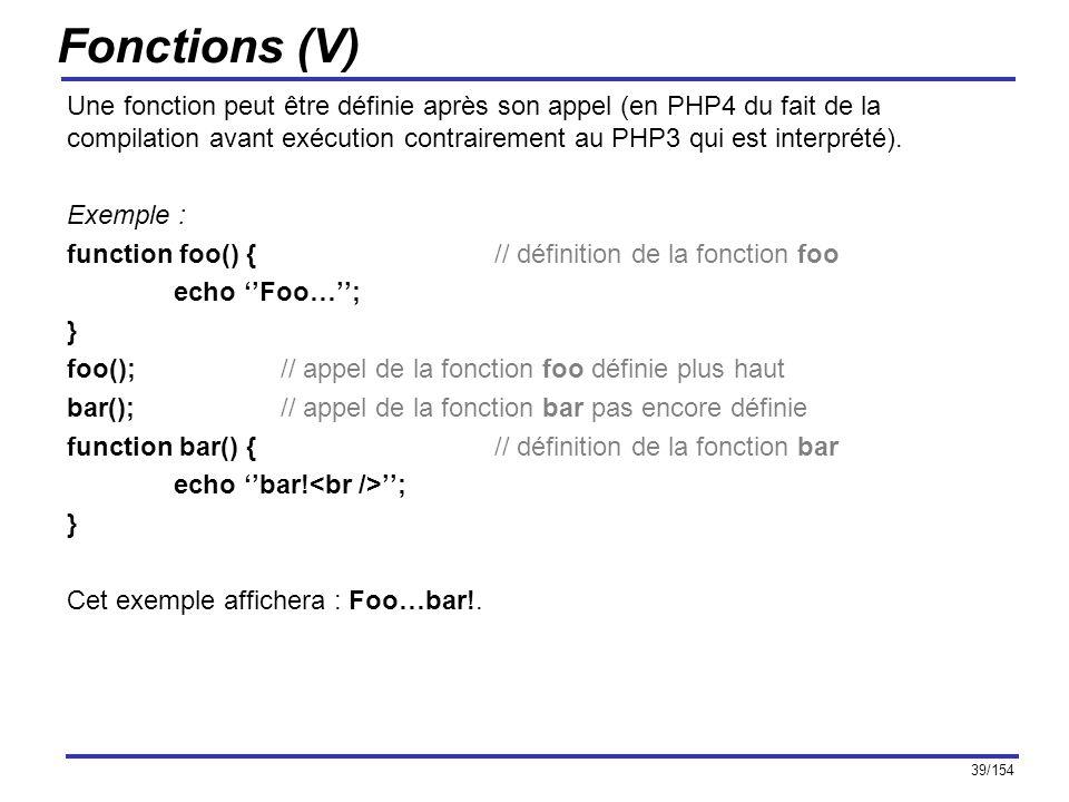 Fonctions (V)