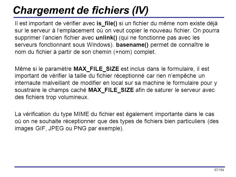 Chargement de fichiers (IV)