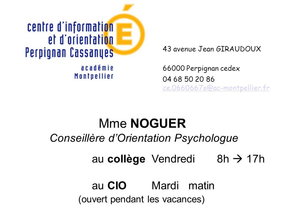 Conseillère d'Orientation Psychologue