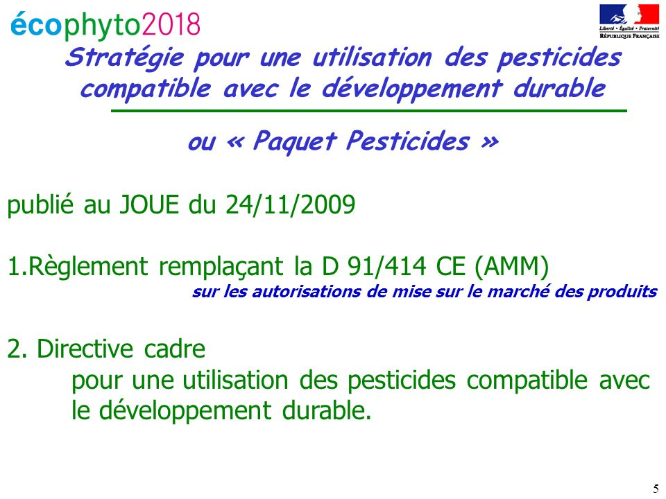 ou « Paquet Pesticides »