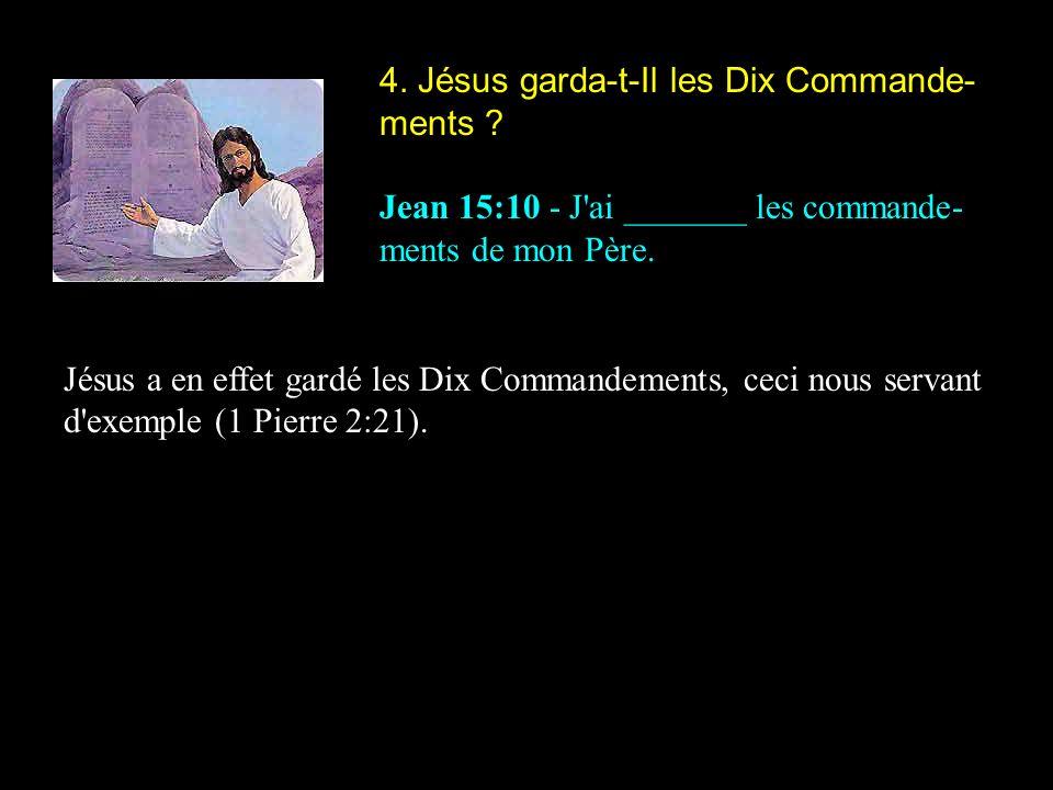 4. Jésus garda-t-Il les Dix Commande-ments