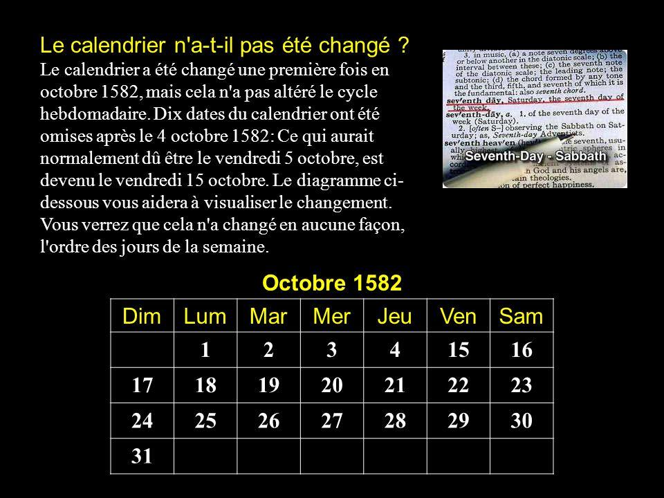 Le calendrier n a-t-il pas été changé