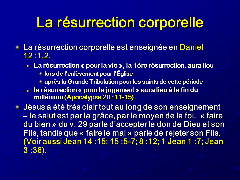La résurrection corporelle