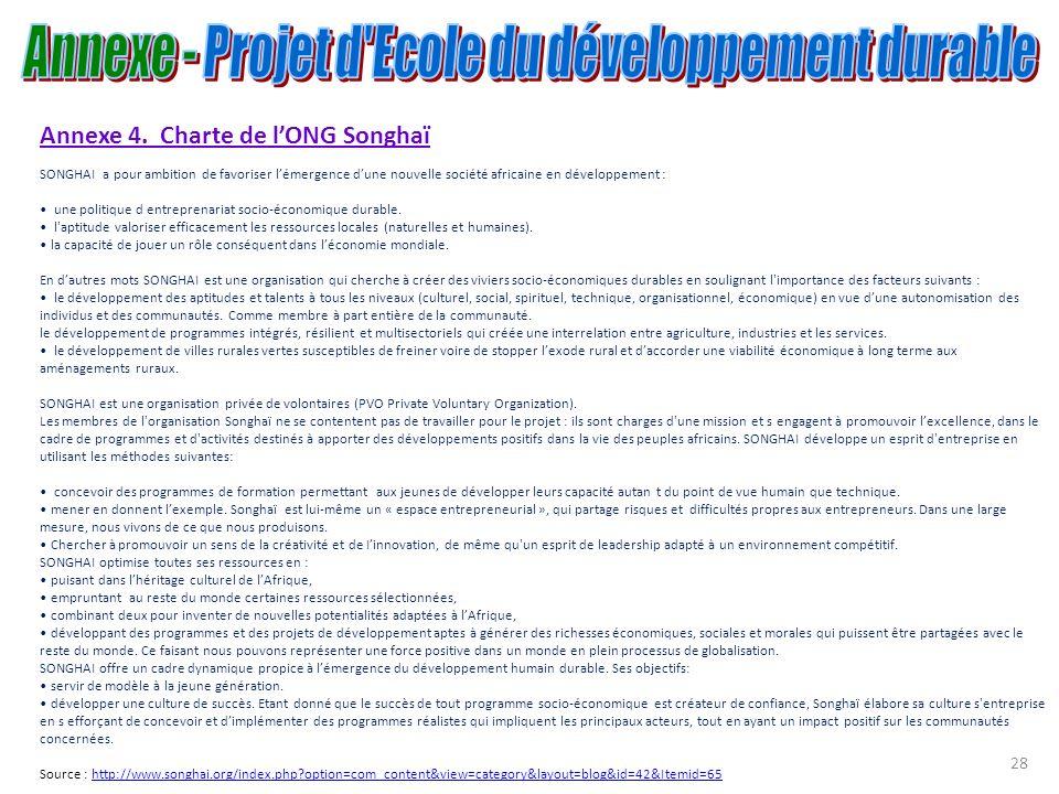Annexe - Projet d Ecole du développement durable