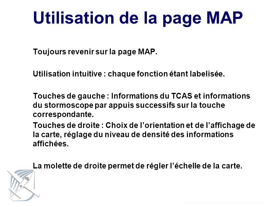 Utilisation de la page MAP