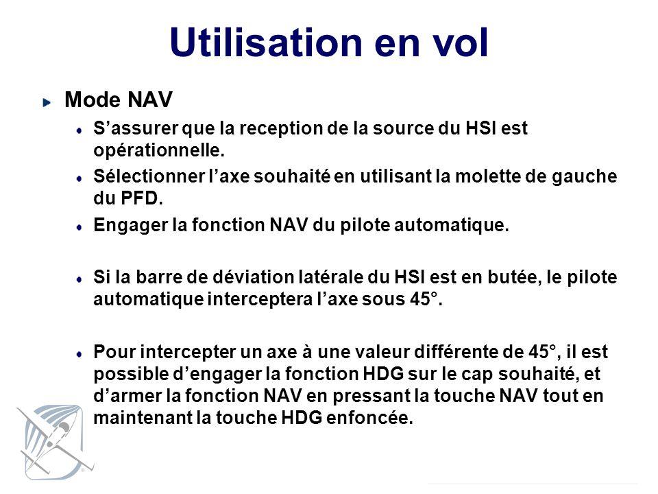Utilisation en vol Mode NAV