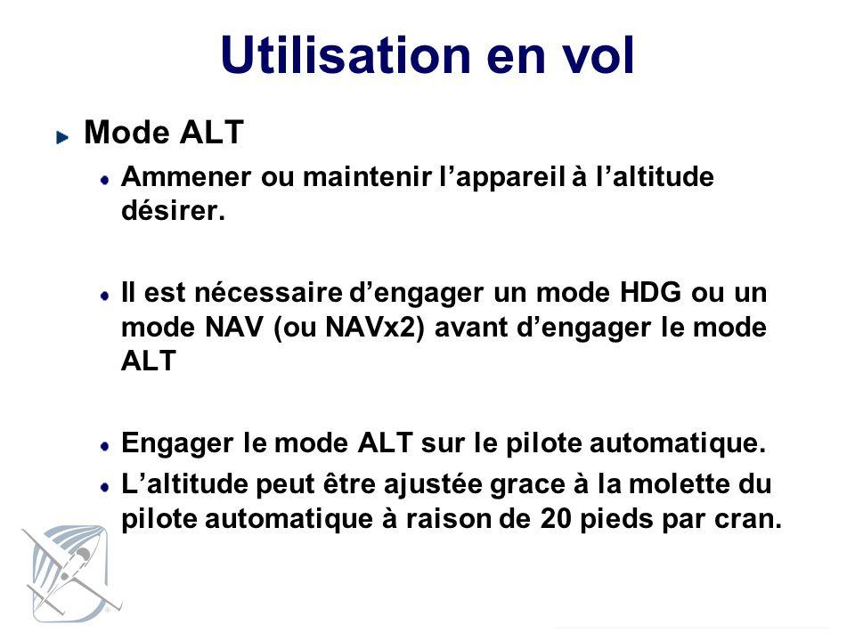 Utilisation en vol Mode ALT