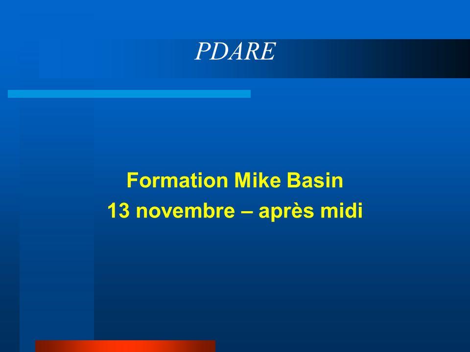 PDARE Formation Mike Basin 13 novembre – après midi
