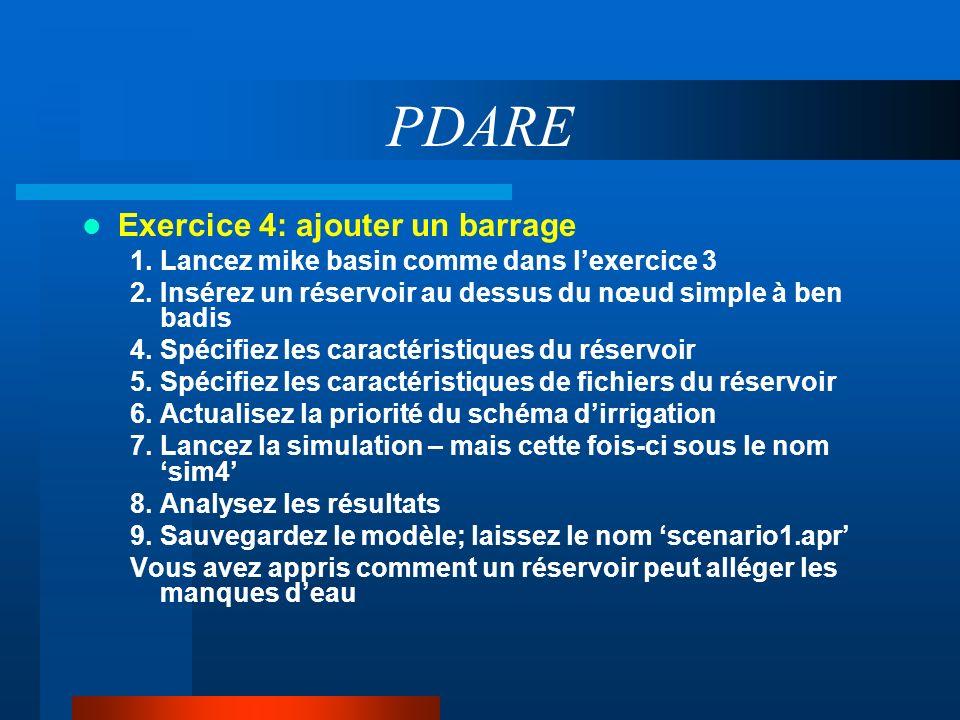 PDARE Exercice 4: ajouter un barrage