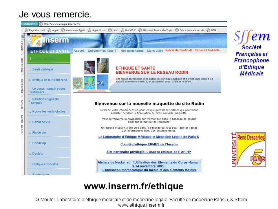 Société Française et Francophone d'Ethique Médicale