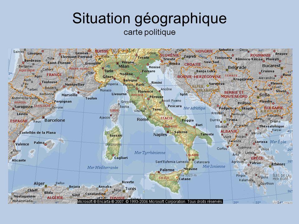 Situation géographique carte politique