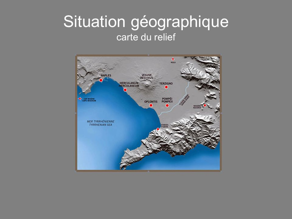 Situation géographique carte du relief