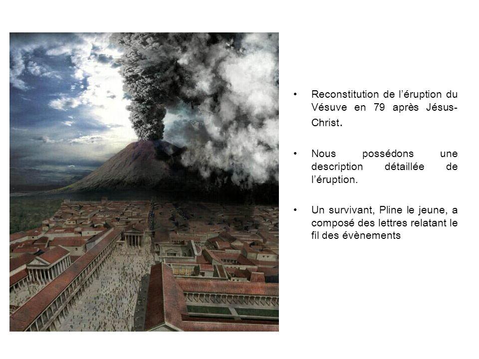 Reconstitution de l'éruption du Vésuve en 79 après Jésus-Christ.