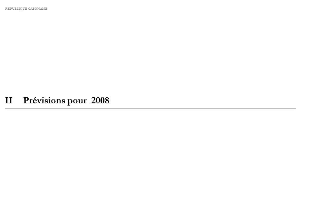 II PRÉVISIONS ÉCONOMIQUES POUR 2008