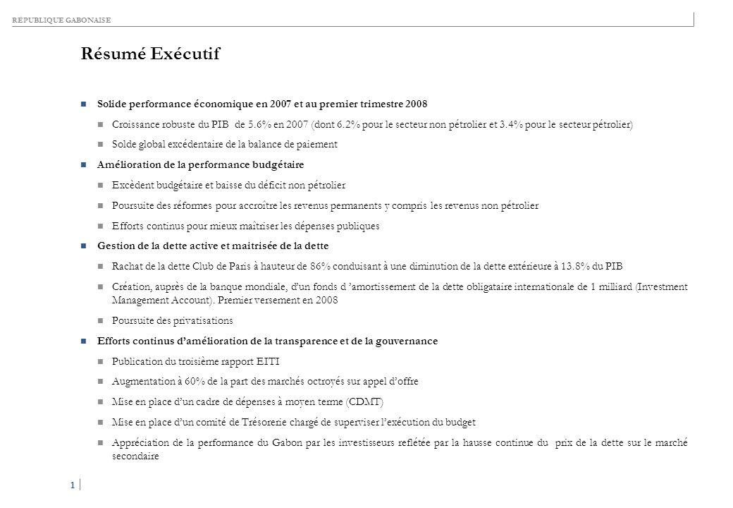 Table des matières I. PERFORMANCE ÉCONOMIQUE EN 2007 ET EFFORTS DE TRANSPARENCE. II. PRÉVISIONS ÉCONOMIQUES POUR 2008.