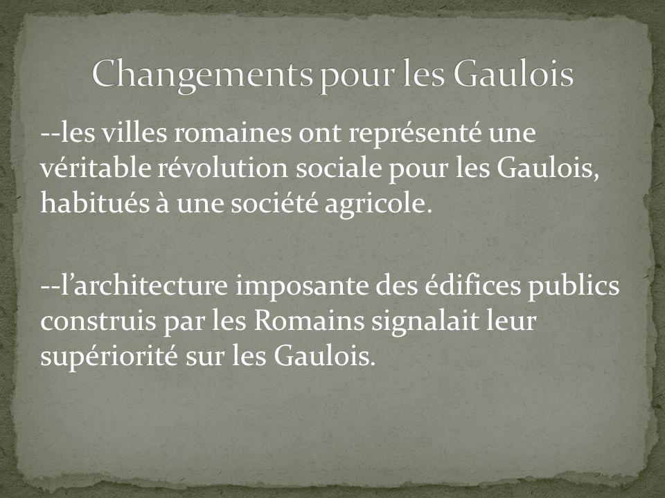 Changements pour les Gaulois