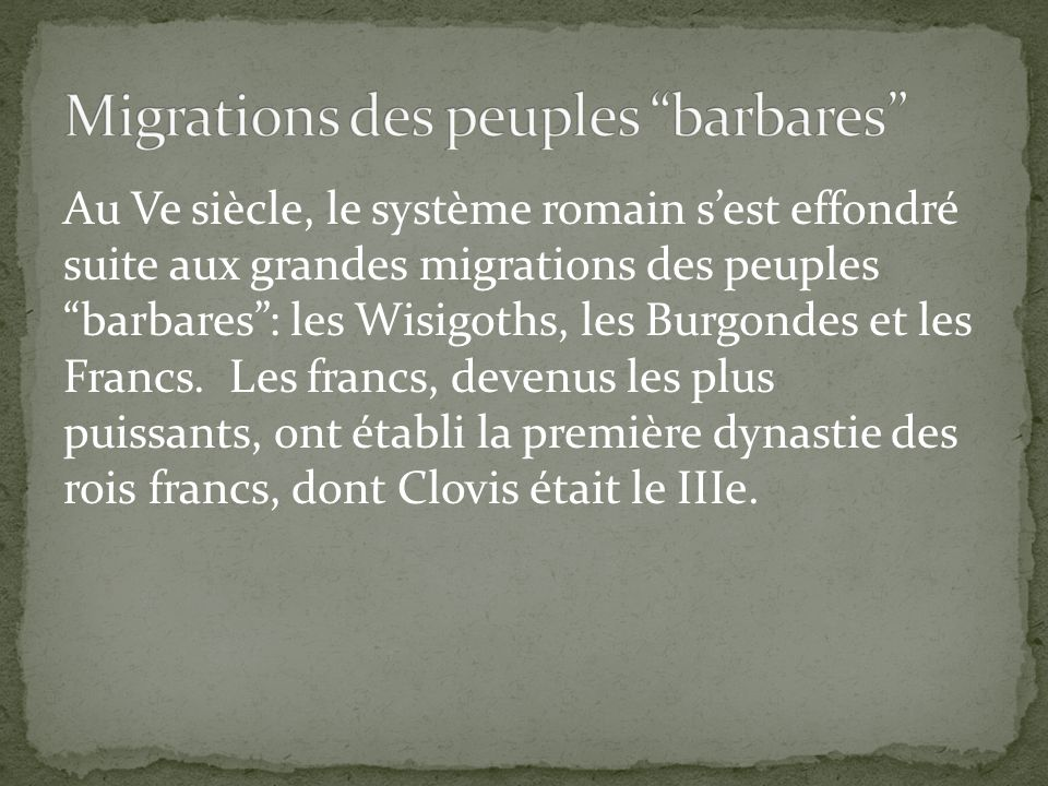Migrations des peuples barbares