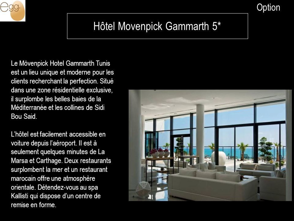Hôtel Movenpick Gammarth 5*