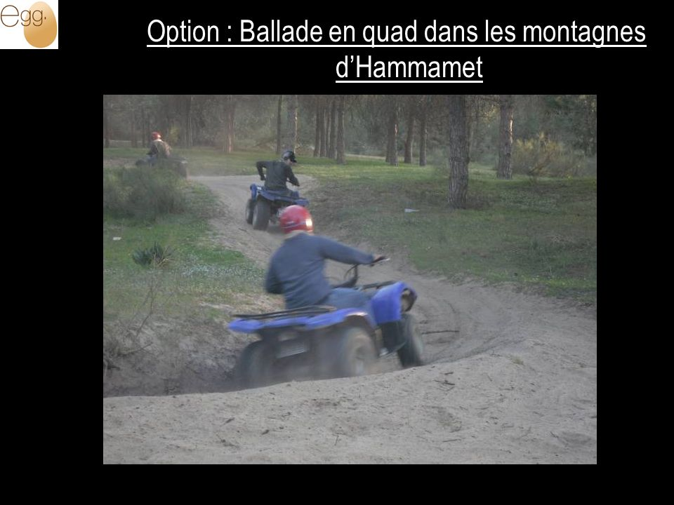 Option : Ballade en quad dans les montagnes d'Hammamet