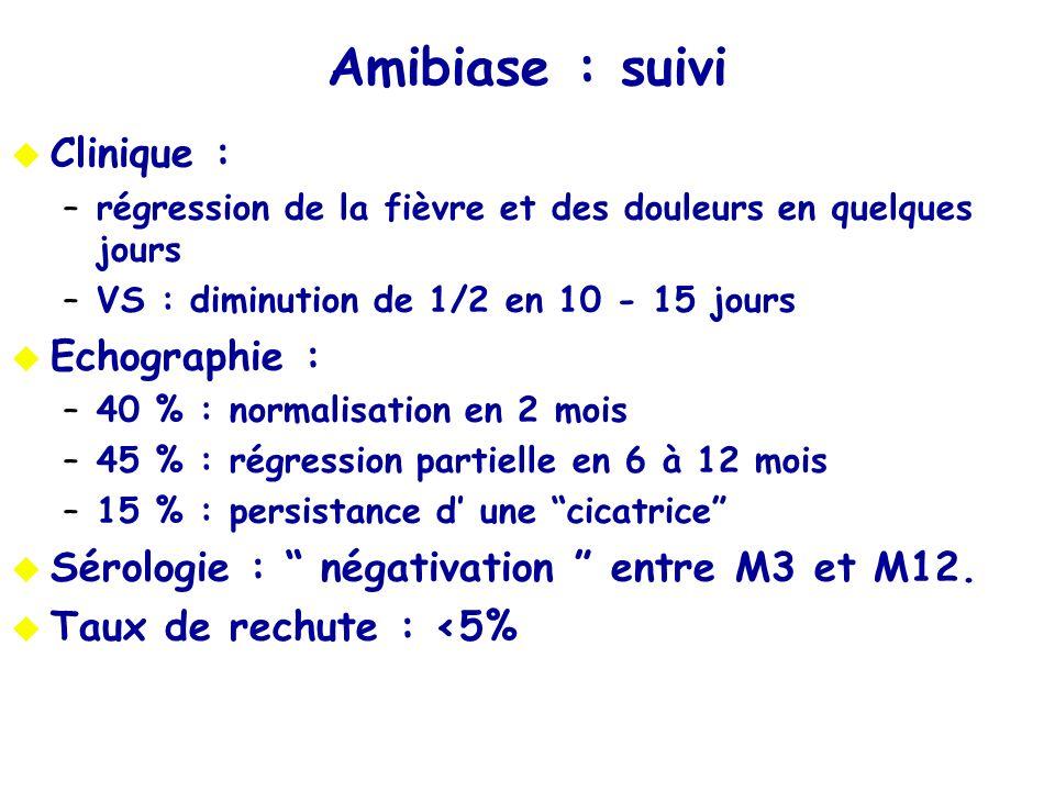 Amibiase : suivi Clinique : Echographie :