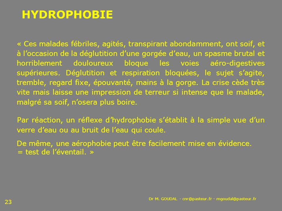 HYDROPHOBIE