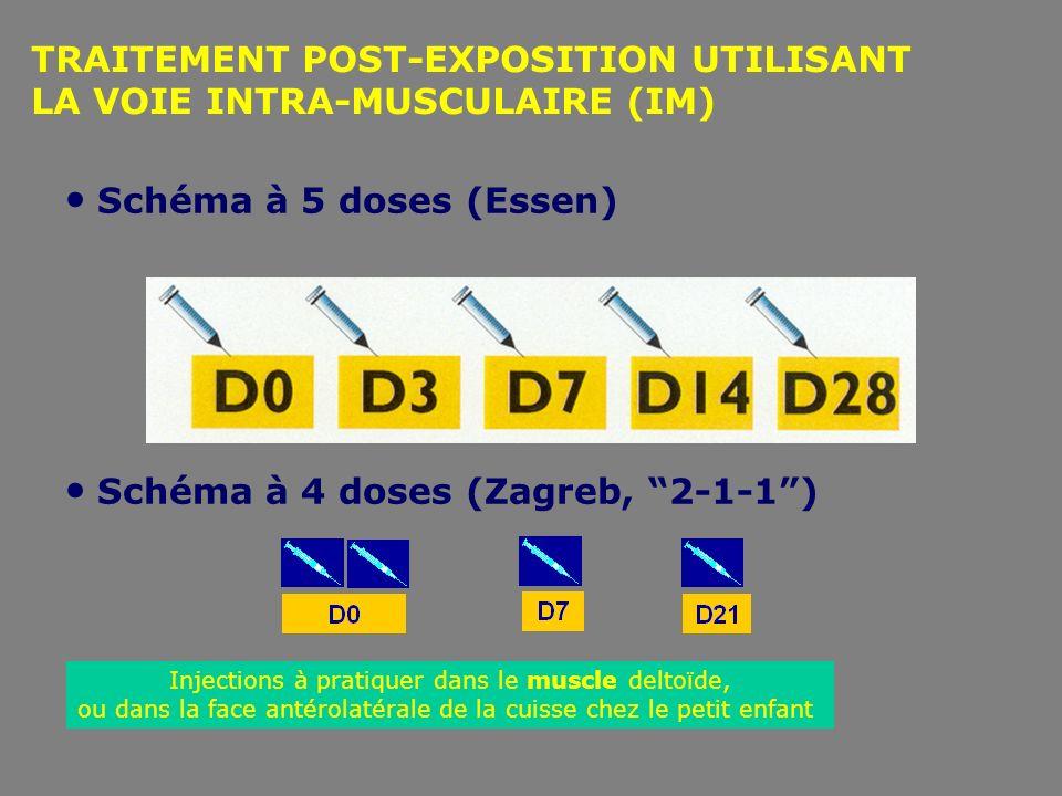 TRAITEMENT POST-EXPOSITION UTILISANT LA VOIE INTRA-MUSCULAIRE (IM)