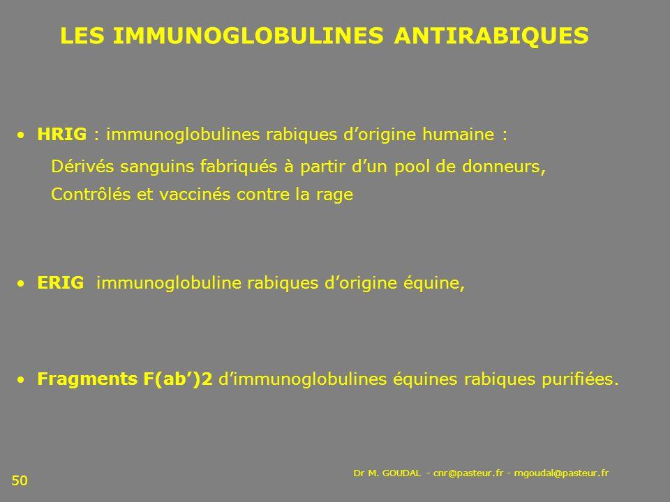 HRIG : immunoglobulines rabiques d'origine humaine :