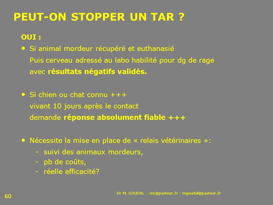 PEUT-ON STOPPER UN TAR OUI :