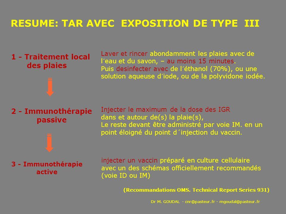 RESUME: TAR AVEC EXPOSITION DE TYPE III