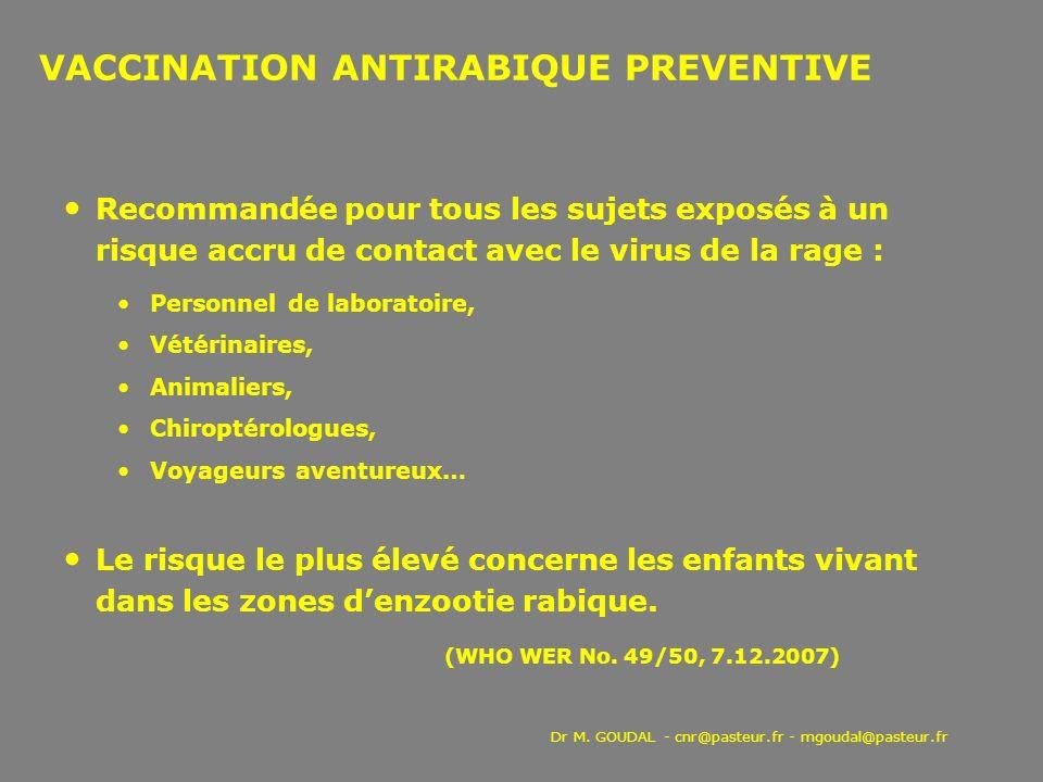 VACCINATION ANTIRABIQUE PREVENTIVE