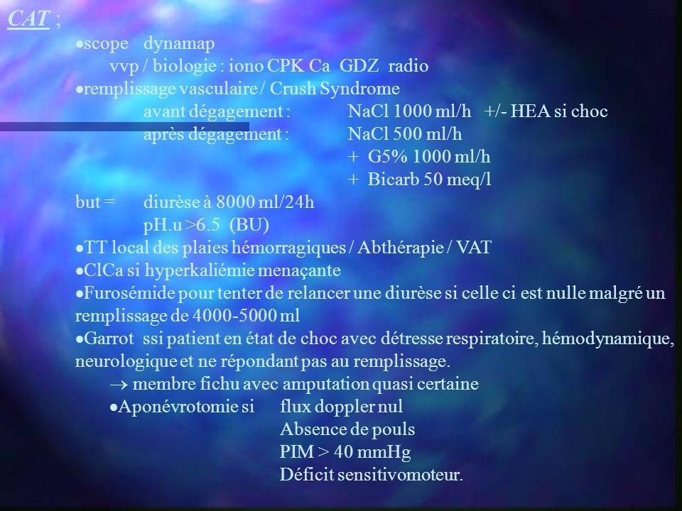 CAT ; scope dynamap vvp / biologie : iono CPK Ca GDZ radio