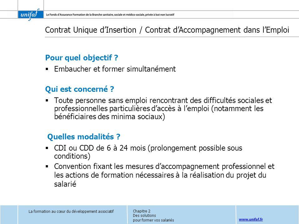 Contrat Unique d'Insertion / Contrat d'Accompagnement dans l'Emploi