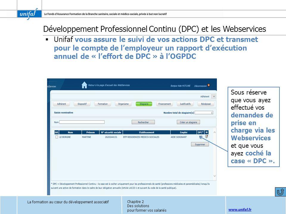 Développement Professionnel Continu (DPC) et les Webservices