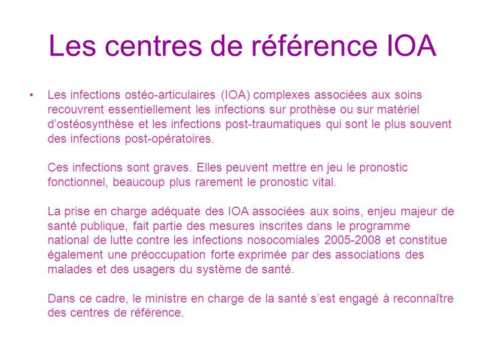 Les centres de référence IOA