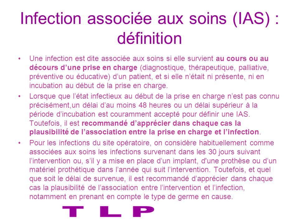 Infection associée aux soins (IAS) : définition