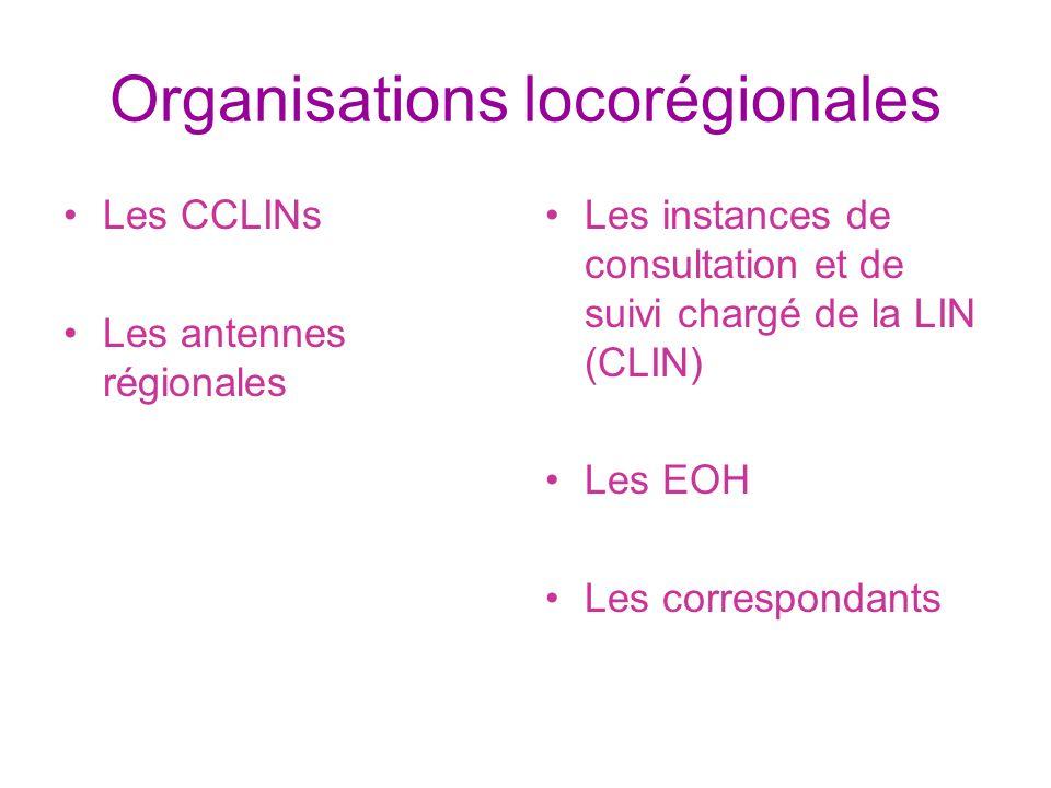 Organisations locorégionales