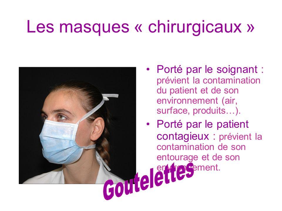 Les masques « chirurgicaux »