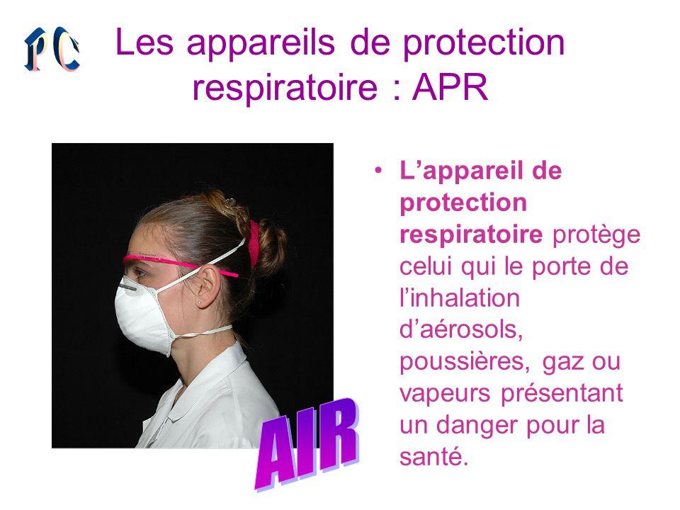 Les appareils de protection respiratoire : APR