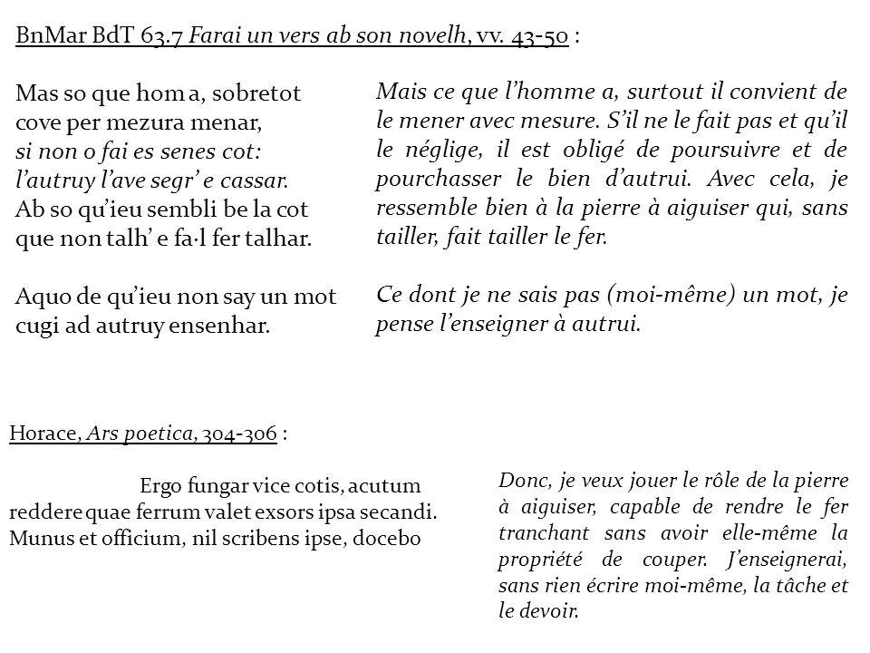 BnMar BdT 63.7 Farai un vers ab son novelh, vv. 43-50 :