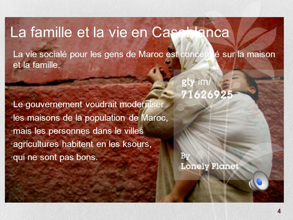 La famille et la vie en Casablanca