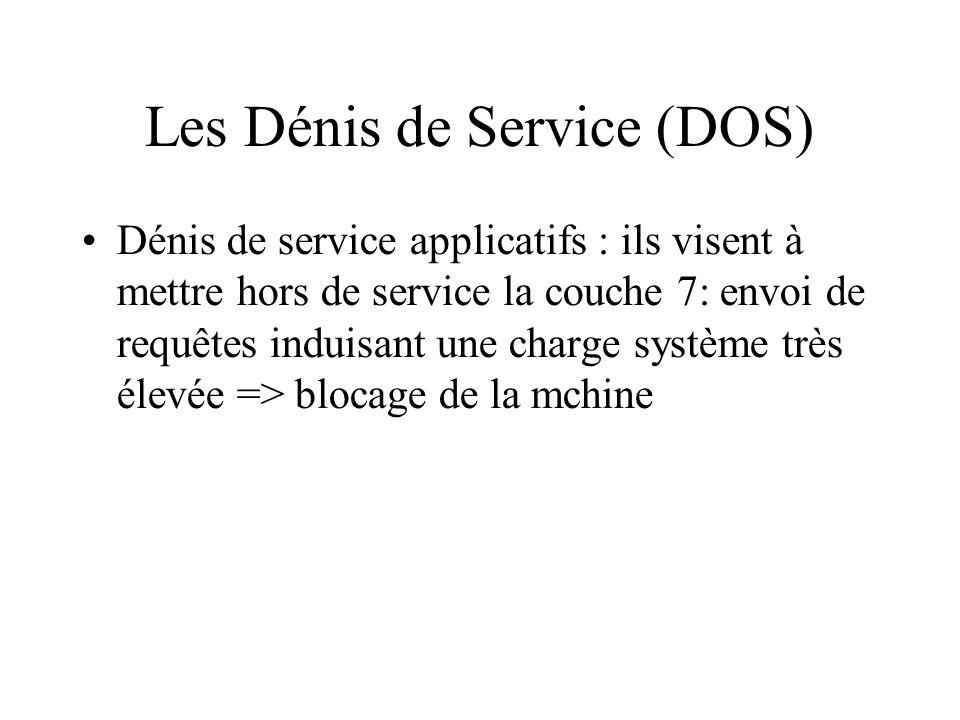 Les Dénis de Service (DOS)